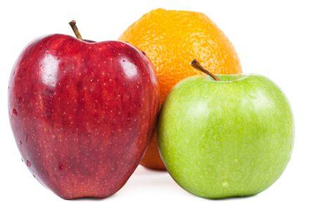 Comparison using fruit